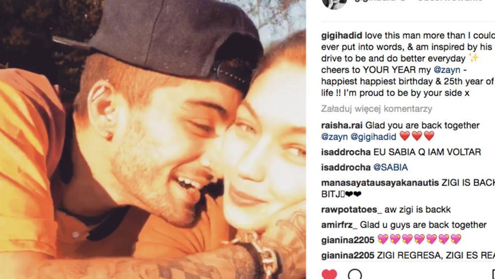Zayn i Gigi Hadid przyłapani razem w Nowym Jorku. Wrócili do siebie?
