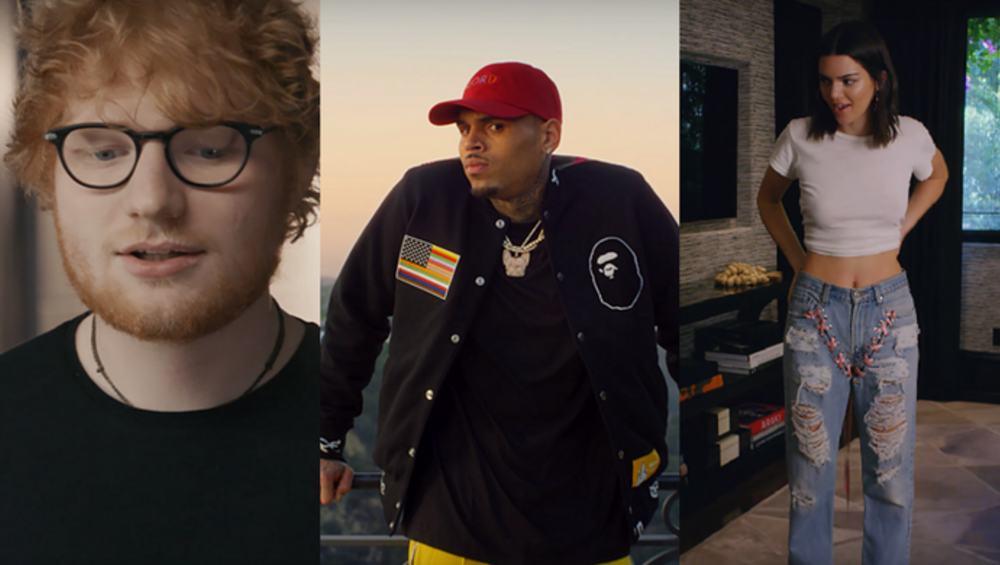 Ed Sheeran i Kendal Jenner skrytykowani za występ w teledysku z Chrisem Brownem!