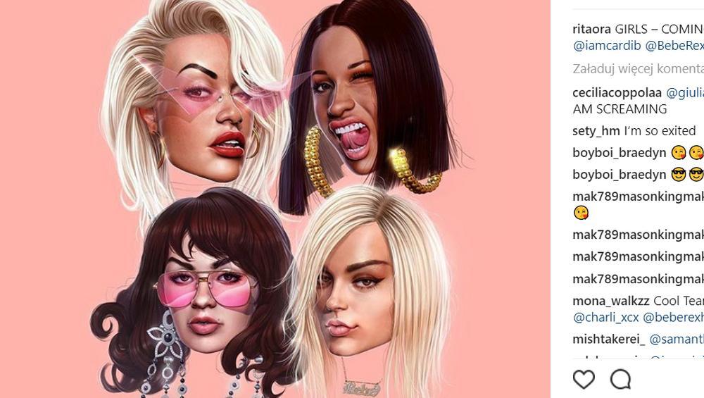 """Rita Ora, Cardi B, Bebe Rehxa i Charlie XCX we wspólnym kawałku """"Girls"""""""