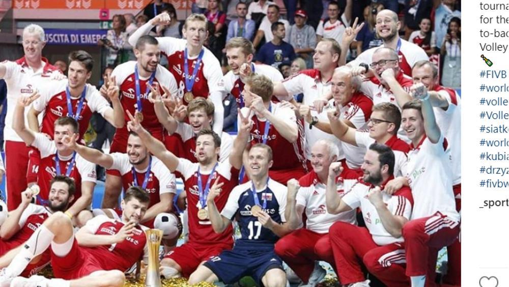 MŚ w siatkówce: wpadka podczas wręczenia medali Polakom
