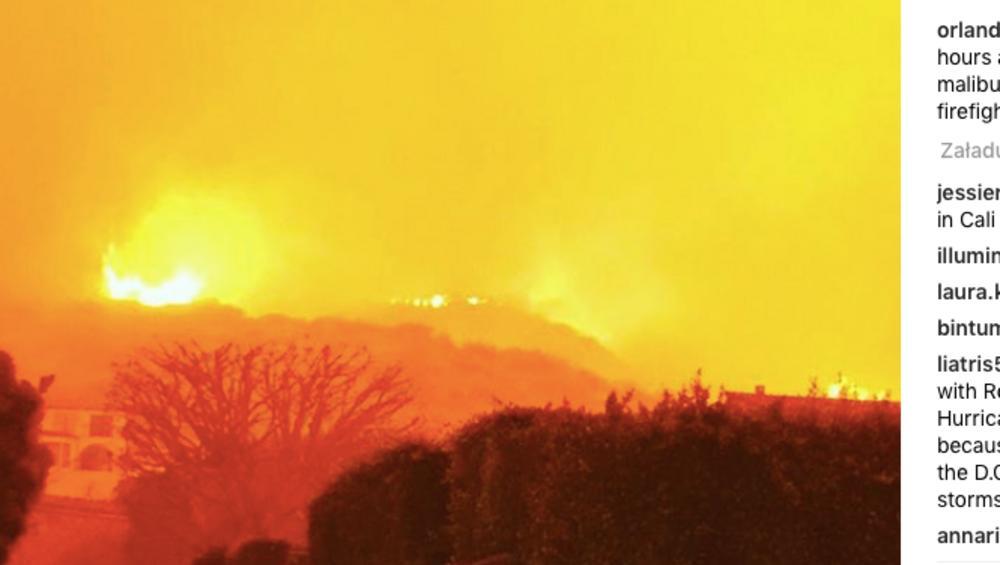 Domy Liama Payne'a, Kim Kardashian i innych gwiazd SPŁONĘŁY? Ogromny pożar trawi Kalifornię