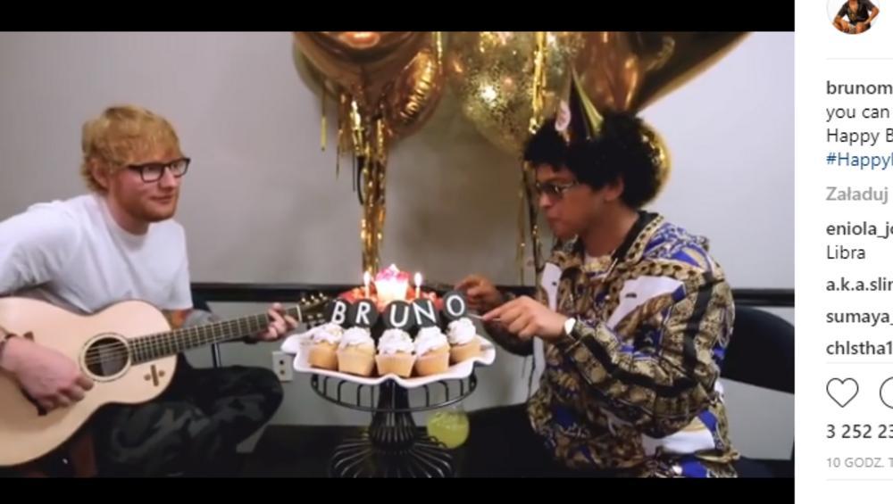 Bruno Mars wynajął Eda Sheerana do zaśpiewania Sto Lat i nie możemy przestać się śmiać