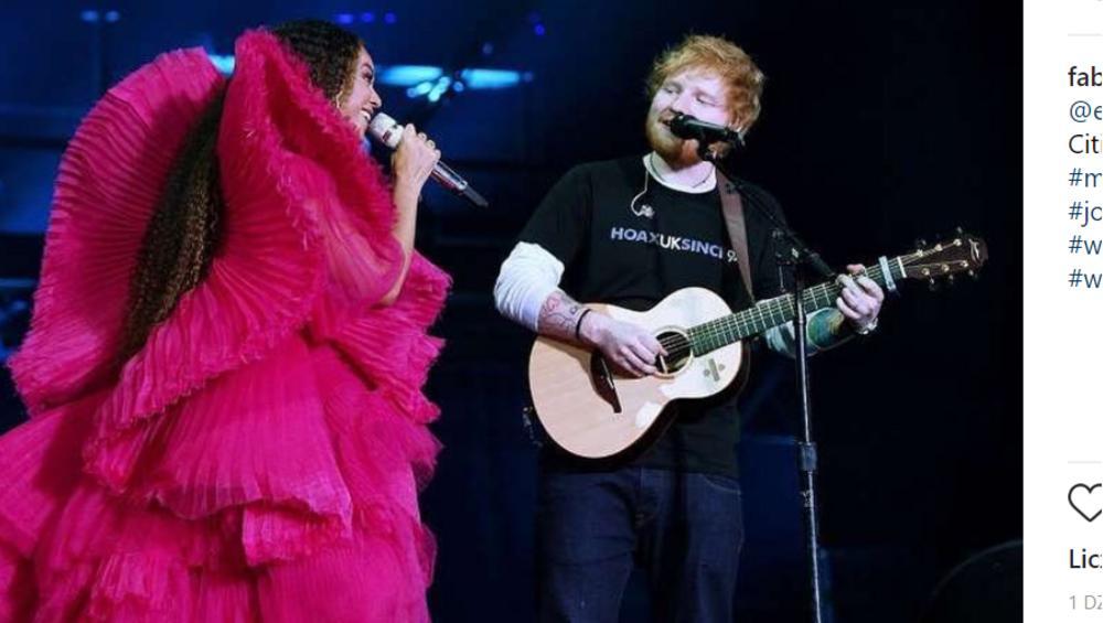 Ed Sheeran i Beyonce śpiewają Perfect na żywo. Pięknie?