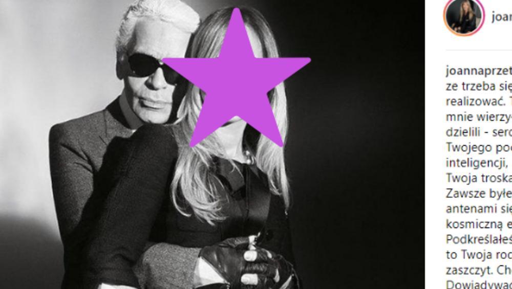 Lagerfeld przyjaźnił się z Polką. 'Wierzyłeś we mnie'
