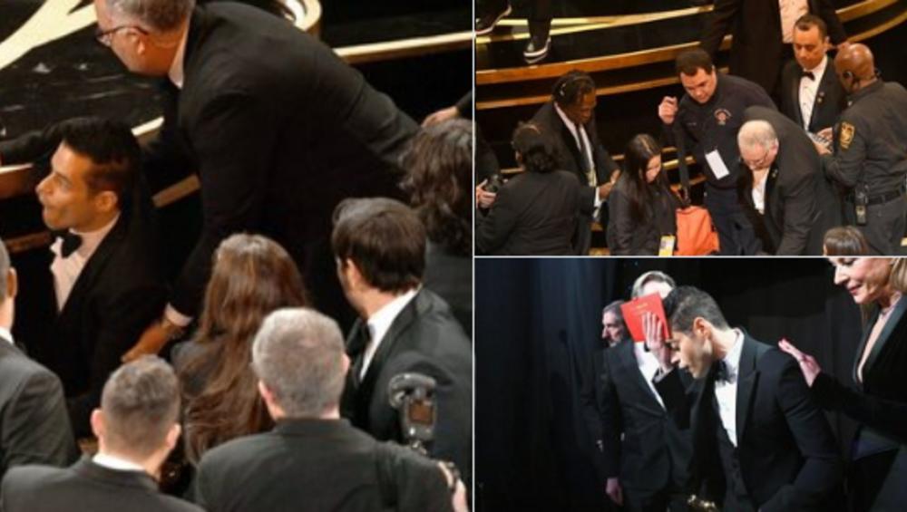 Oscary 2019: Rami Malek upadł schodząc ze sceny [VIDEO]