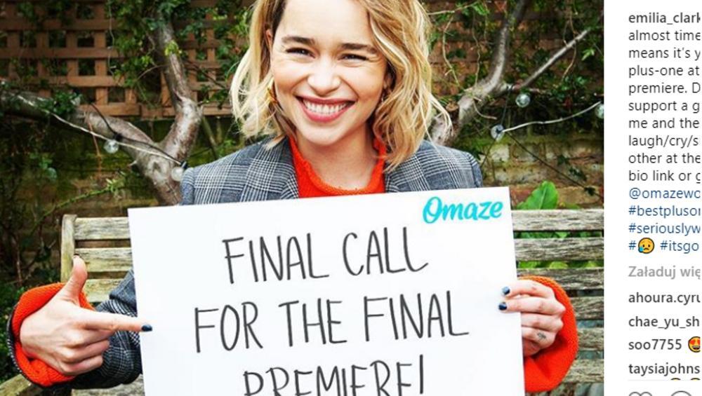 Gra o Tron 8: Emilia Clarke zabierze fana na uroczystą premierę! Jest jeden warunek