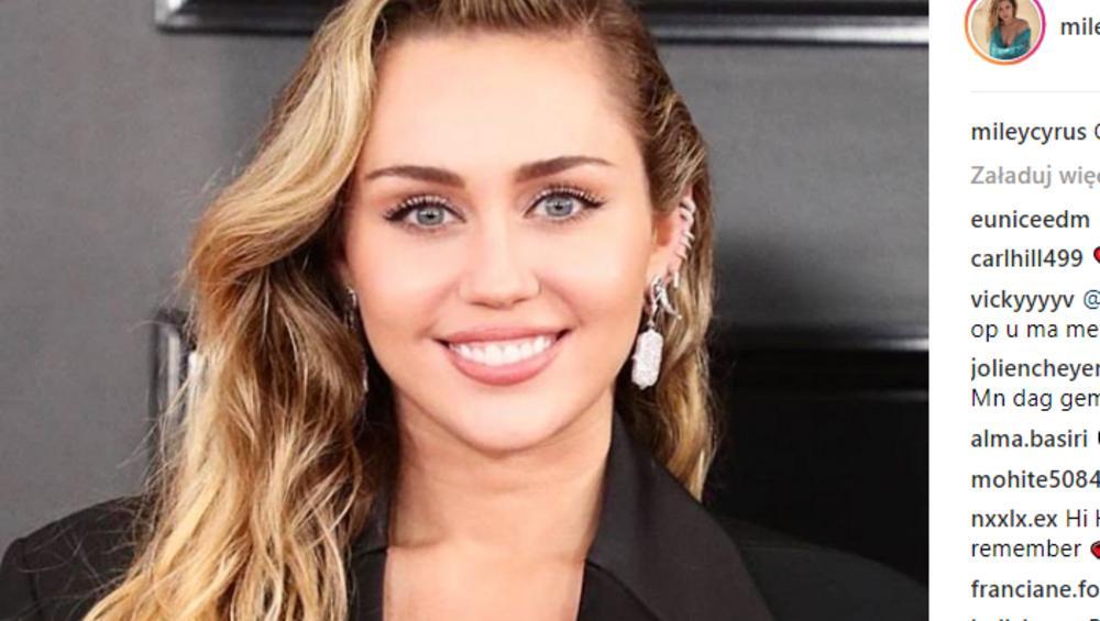 """Miley Cyrus goli WĄSY na Instagramie! """"Wyglądasz jak Liam"""""""