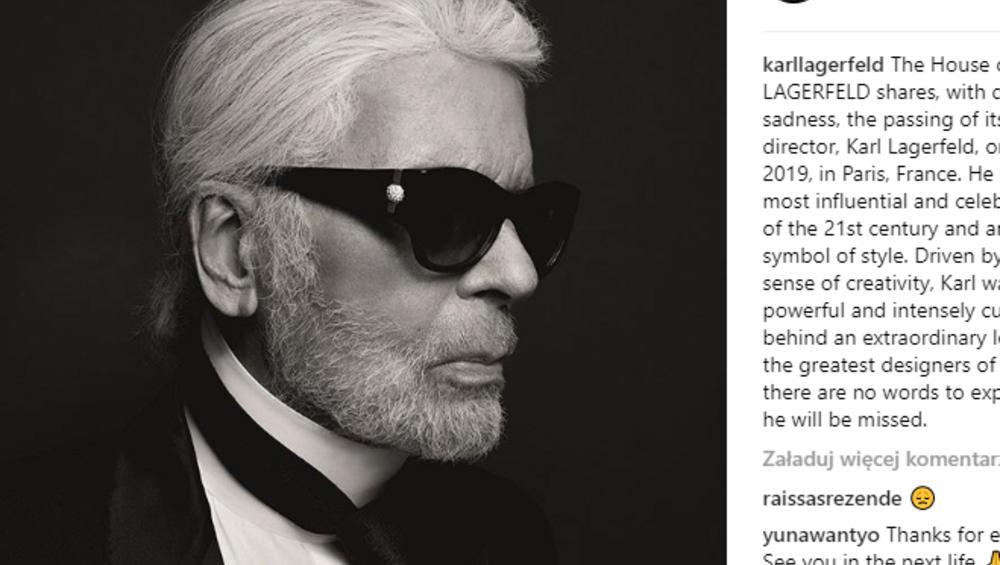 Karl Lagerfeld nie żyje. Ubierał m.in. Selenę Gomez i Camilę Cabello
