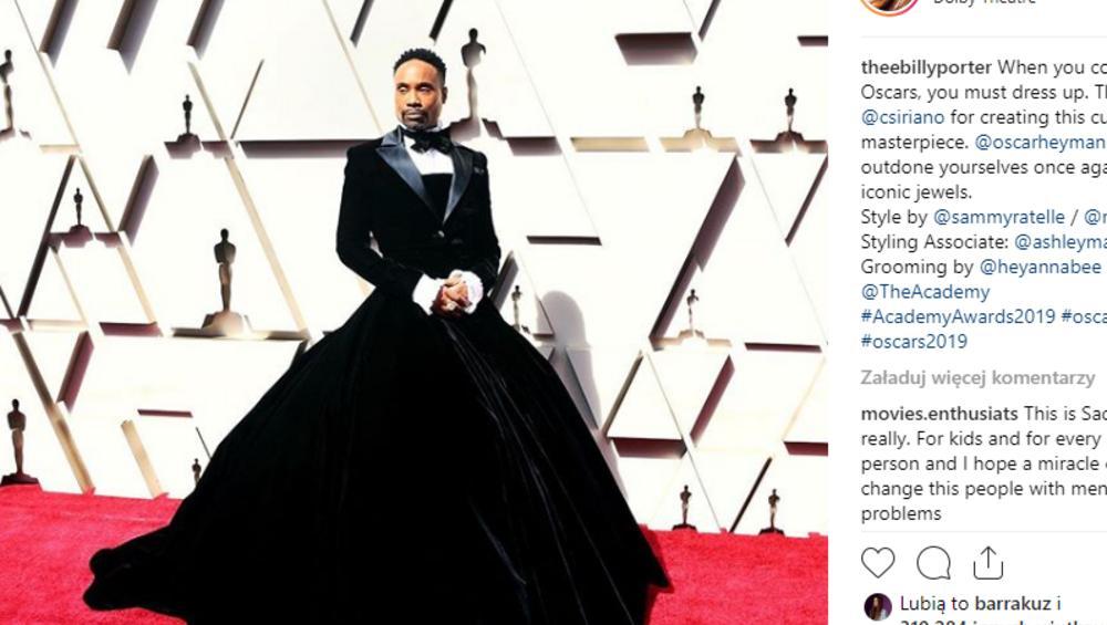 Oscary 2019: Billy Porter w sukni. Kim jest aktor, który zaszokował galę?