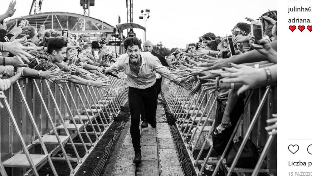 Shawn Mendes na zdjęciach z polskimi gwiazdami i fanami