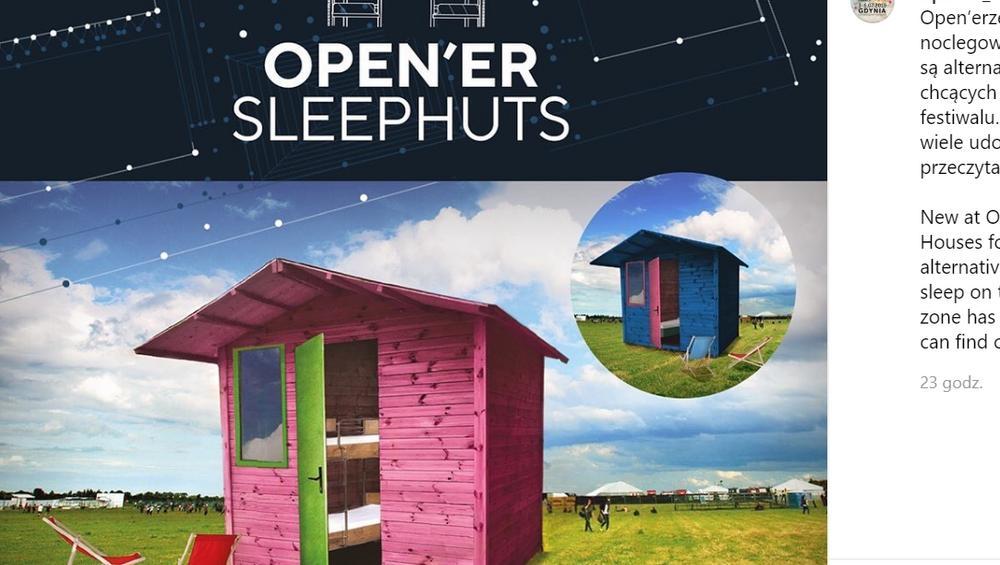 Domki na Open'erze po raz pierwszy! Ile kosztują i jak je zamówić?