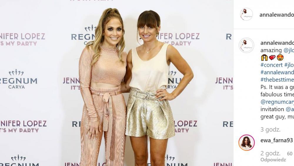 Anna Lewandowska spotkała się z J.Lo! [ZDJĘCIA]