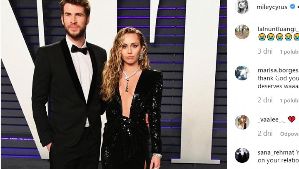 Miley Cyrus i Liam Hemsworth jednak się nie rozwiodą?