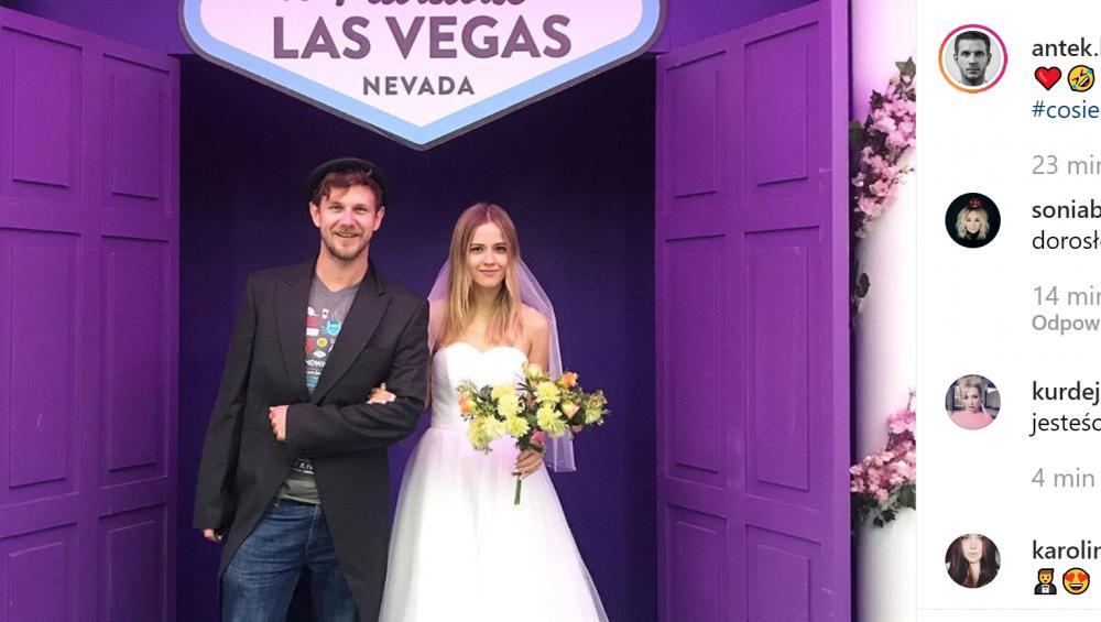 Antek Królikowski i ślub w Las Vegas!? Aktor zaszalał z nową dziewczyną