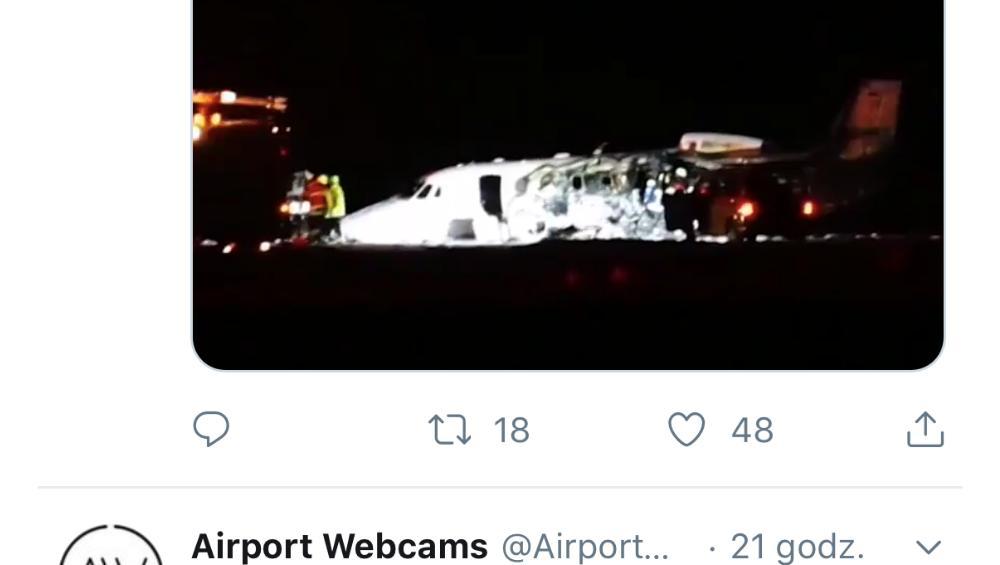 Samolot Pink rozbił się w Danii! VIDEO