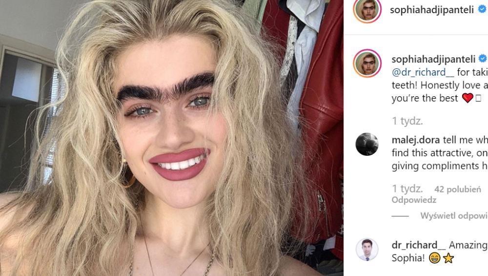Monobrew jest w modzie! Sophia Hadjipanteli nową ikoną piękna?