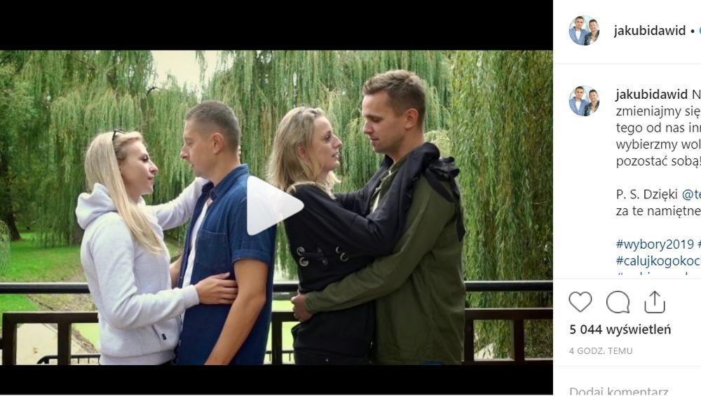 Para polskich gejów całuje się z dziewczynami! Jest wideo