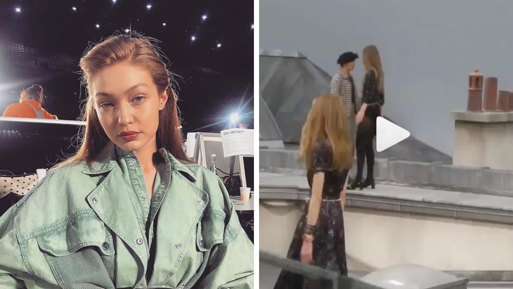 Gigi Hadid wyprowadziła youtuberkę, która weszła na wybieg podczas pokazu Chanel [WIDEO]