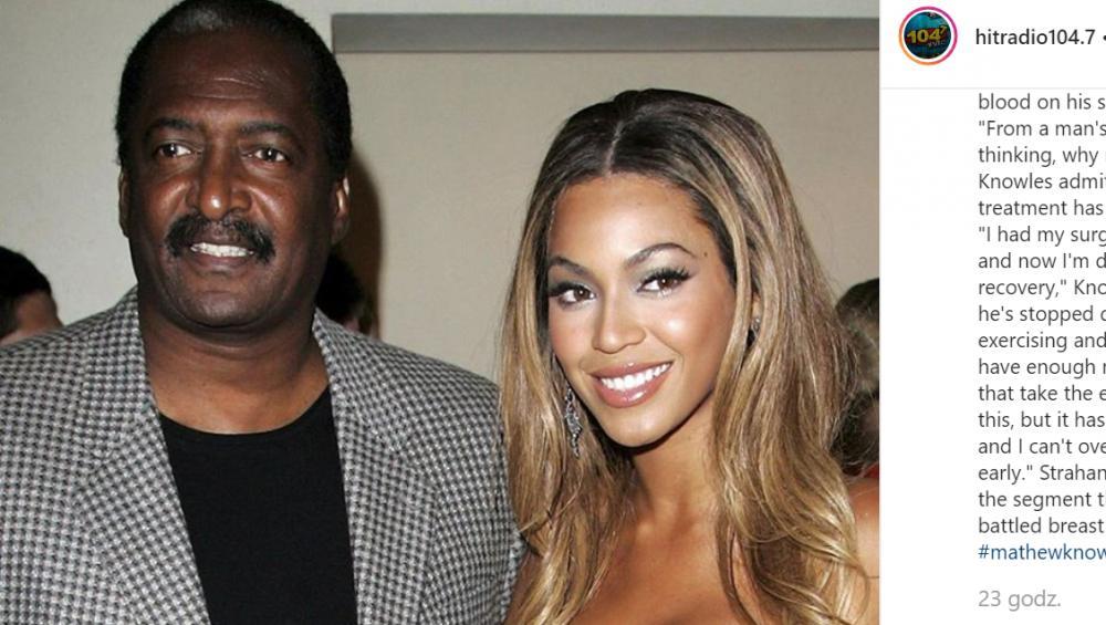 Ojciec Beyonce ma raka piersi