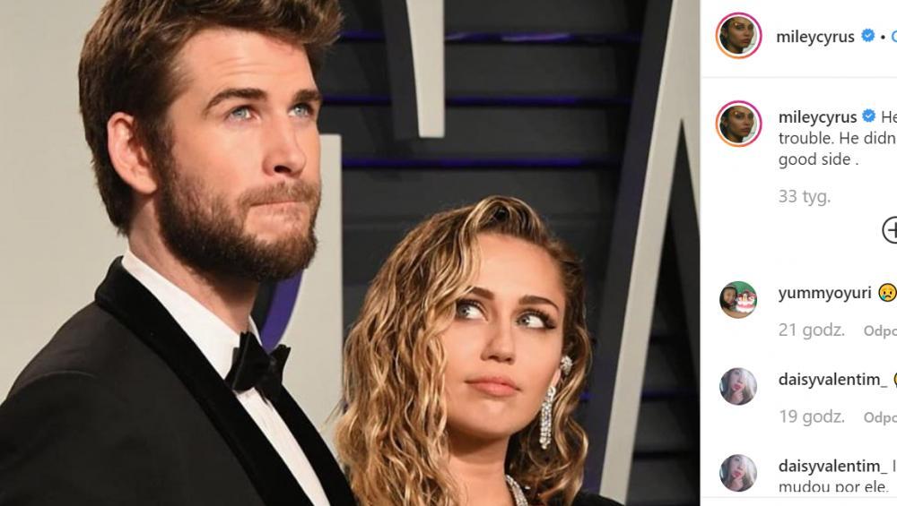 """Miley Cyrus poznała """"tylko jednego faceta z jajami"""". Nie chodzi o męża"""