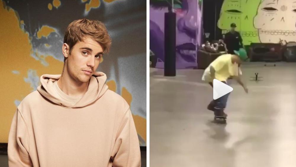 Justin Bieber zrobił pierwszy trik na deskorolce. Ta 'cieszynka' przejdzie do historii! [WIDEO]