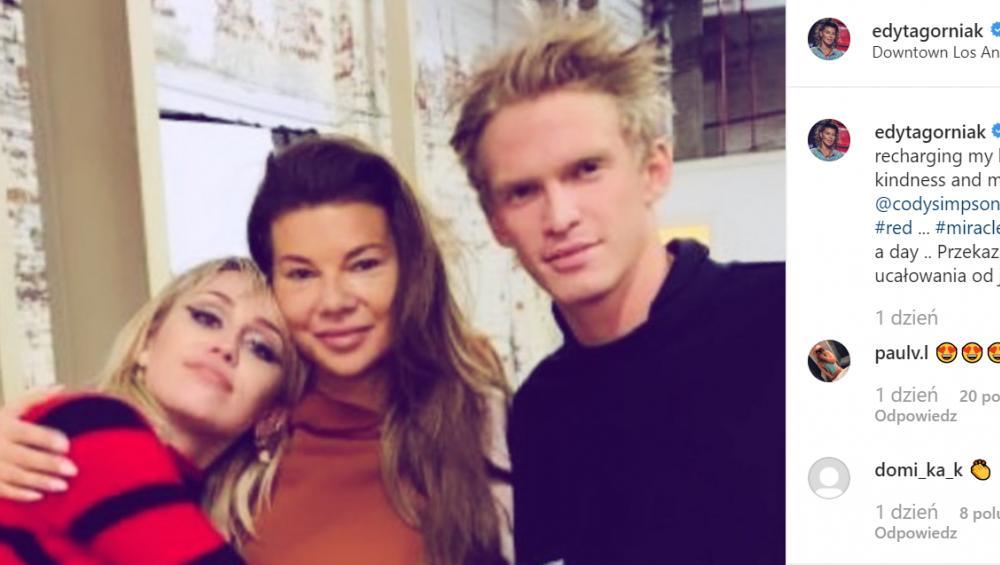 Edyta Górniak spotkała się z Miley Cyrus i Codym Simpsonem! Jak to się stało?