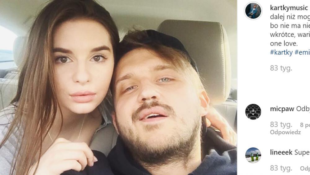 Kartky 'wielokrotnie pobity przez Victorię'. Oświadczenie rapera w sprawie zarzutów partnerki