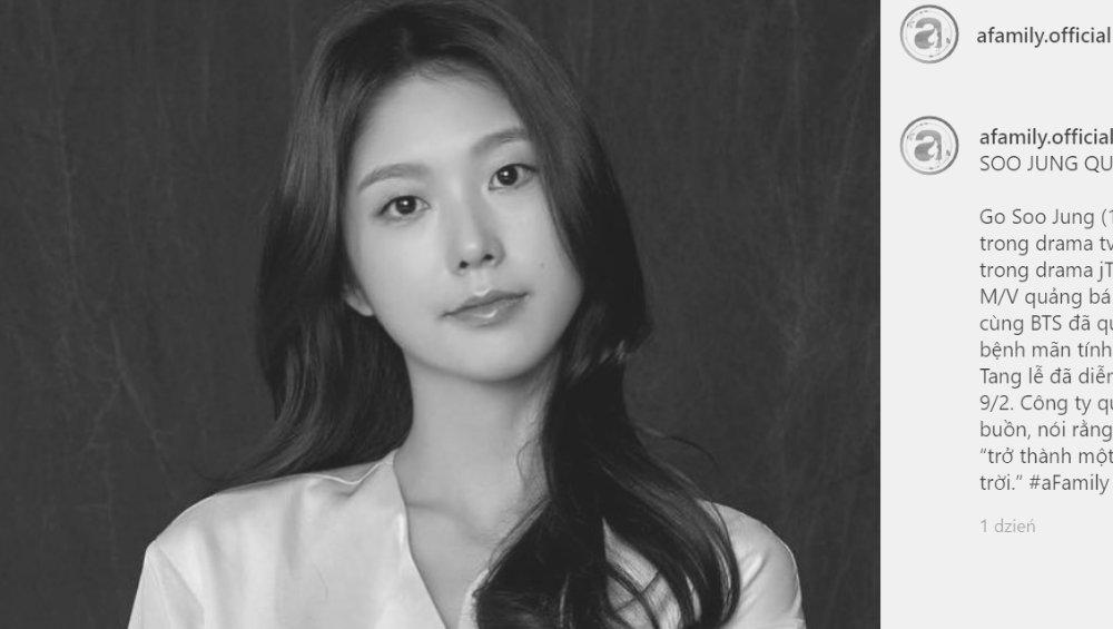 Go Soo Jung z teledysku BTS nie żyje. Miała 25 lat