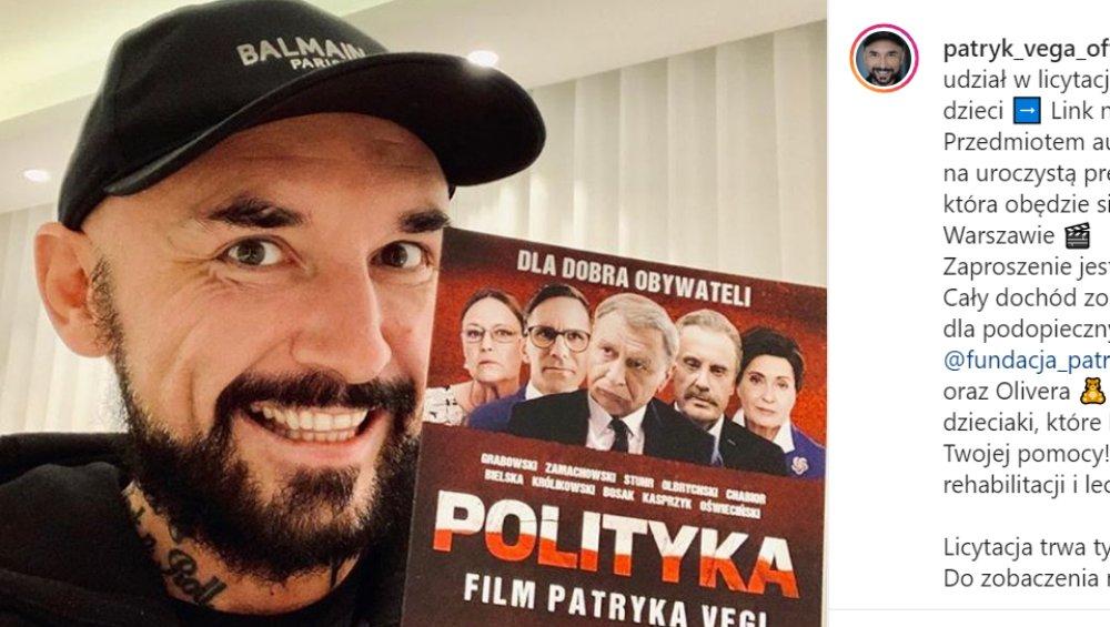 """POLITYKA Patryka Vegi – reżyser żałuje, że zrobił ten film! """"Jestem ostatnią osobą, która powinna…"""""""