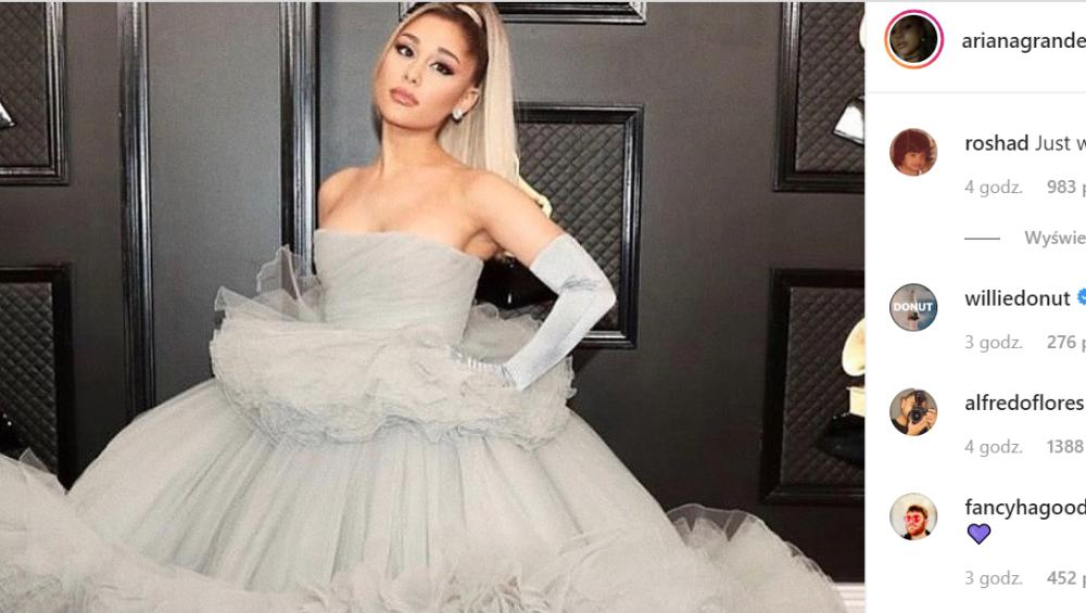 Ariana Grande w sukni ślubnej na Grammy 2020. Jak ubrały się inne gwiazdy?