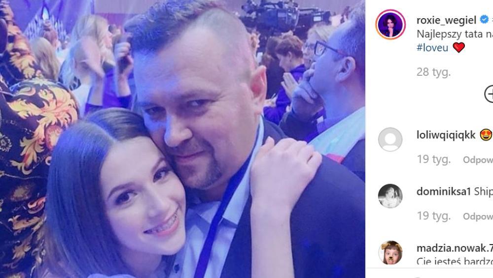Roxie Węgiel: tata gwiazdy ma Instagram! Nie zgadniecie jak się nazwał