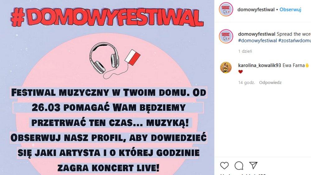 Domowy Festiwal z polskimi muzykami. Kto wystąpi na koncertach online?