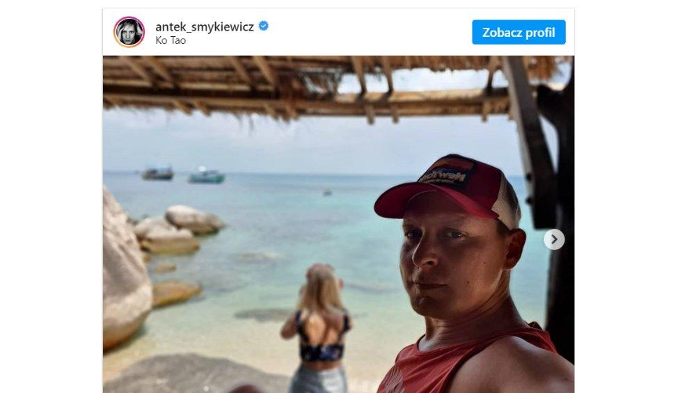 Antek Smykiewicz utknął na rajskiej wyspie! Tam spędzi kwarantannę