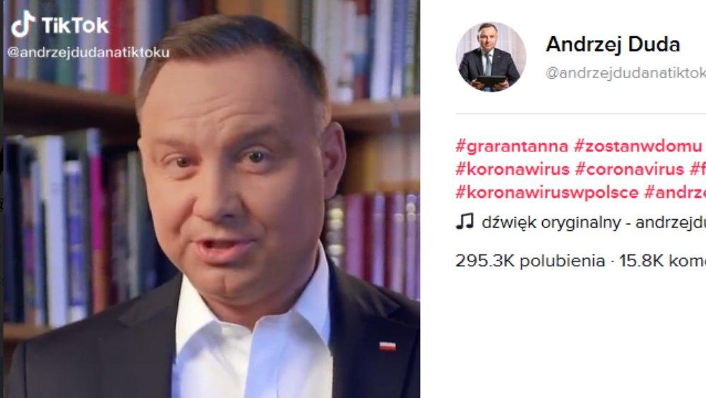 Andrzej Duda na... TikToku! Prezydent Polski nagrał pierwszy filmik