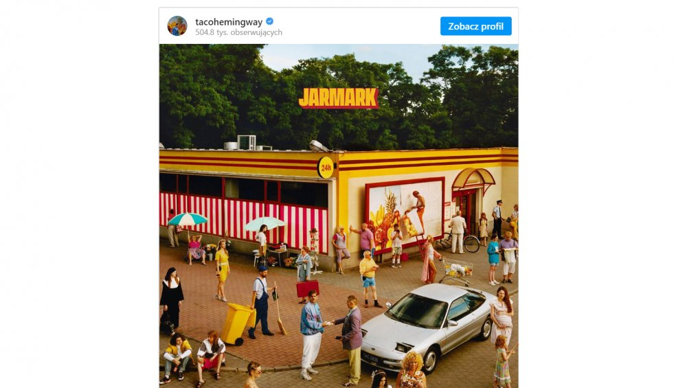 Taco Hemingway: okładka Jarmarku to plagiat? Jest oświadczenie