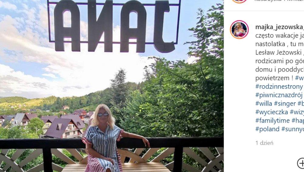 """Majka Jeżowska i jej wpadka hitem Instagrama. """"Pani wie, co dobre"""""""