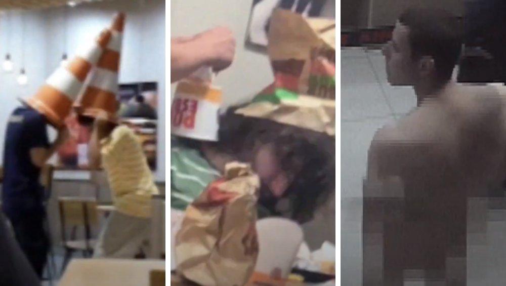 Burger King nocą – epickie sceny w wideo z monitoringu