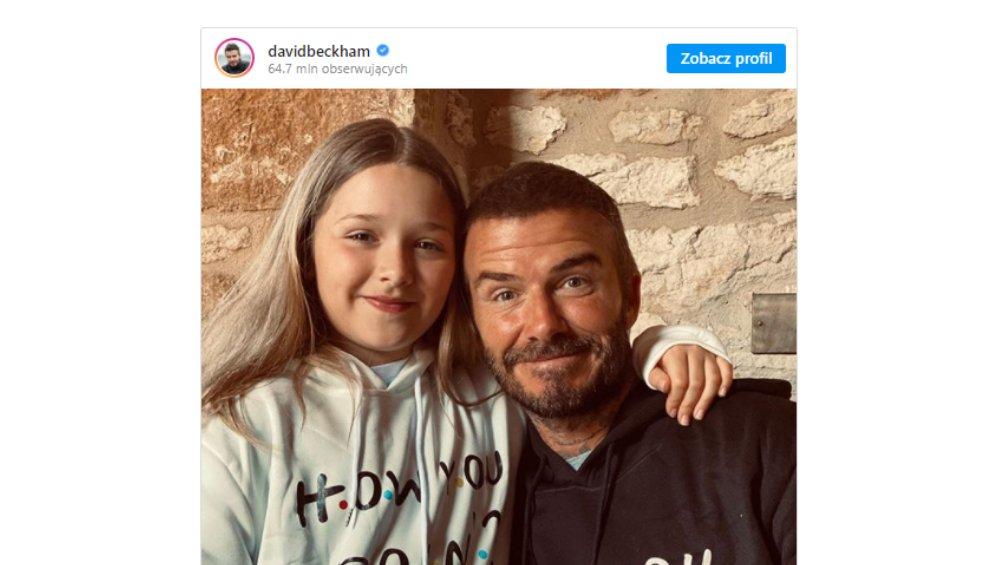 Zdjęcie Davida Beckhama z córką wywołało burzę! Słusznie?