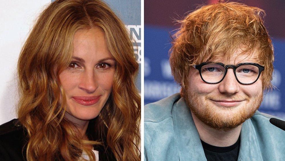 Julia Roberts i Ed Sheeran spędzili razem kwarantannę? Wiemy, jak było naprawdę