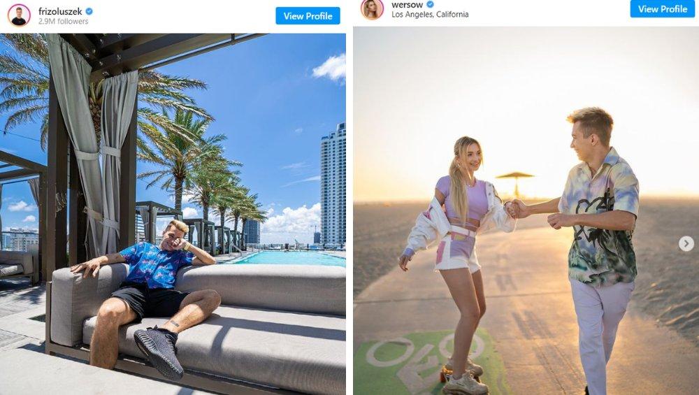 Friz i Wersow bawią się w Las Vegas. Pokazali filmiki