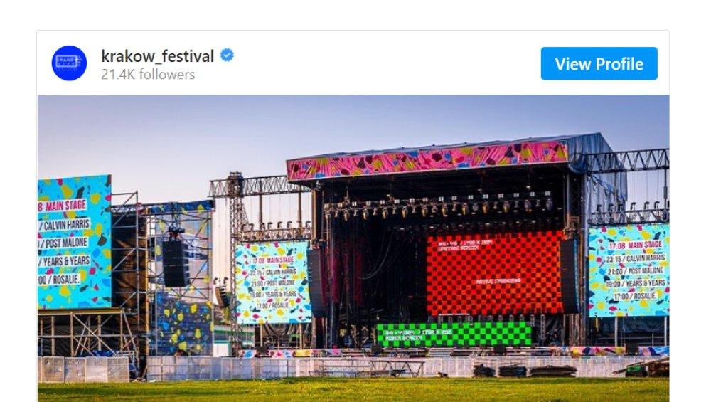 Kraków Live Festival odwołany! Oświadczenie organizatorów