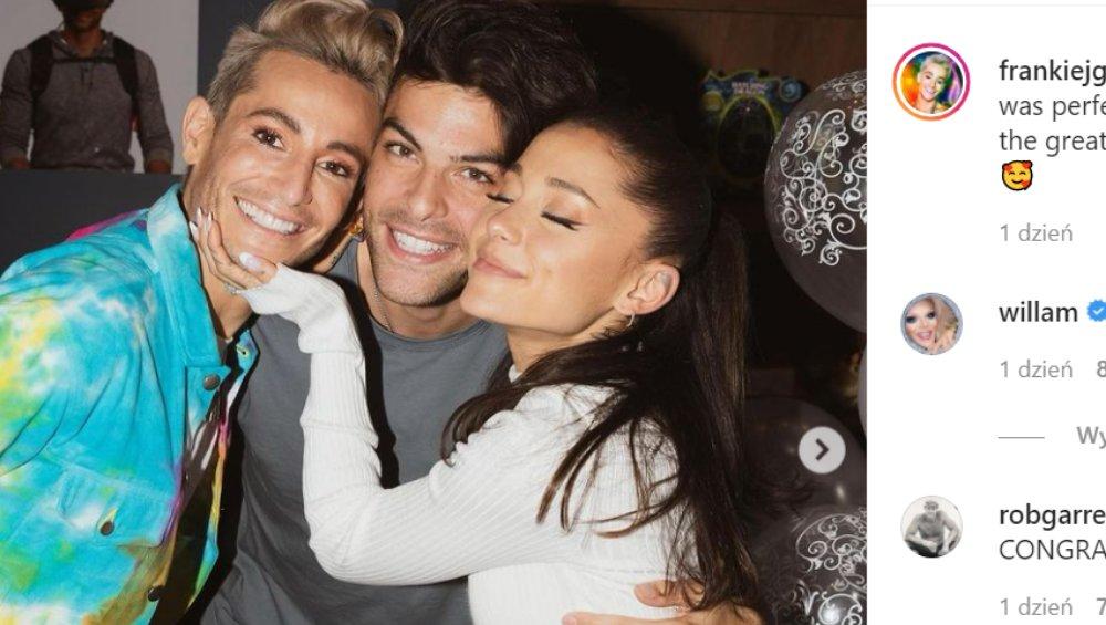 Brat Ariany Grande zaręczył się. Kim jest narzeczony Frankiego Grande?