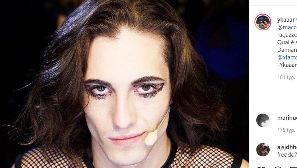 Damiano David z Maneskin: tak wygląda bez makijażu. Przystojny?