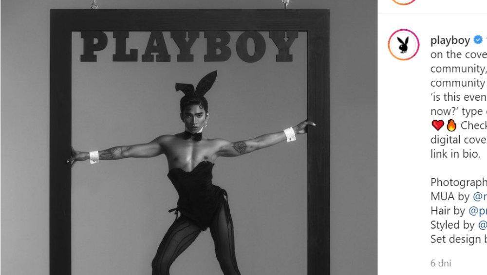 Pierwszy homoseksualny mężczyzna na okładce Playboya. To Bretman Rock