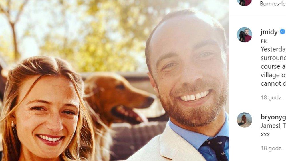Brat Kate Middleton wziął ślub. James Middleton i Alizee Thevenet są małżeństwem