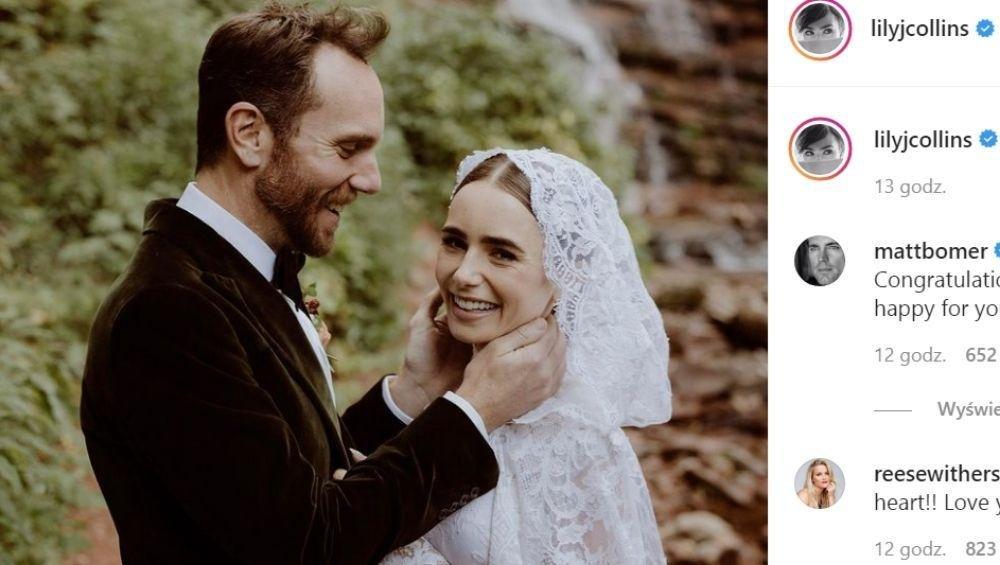 Lily Collins, czyli Emily w Paryżu, wzięła sekretny ślub! ZDJĘCIA