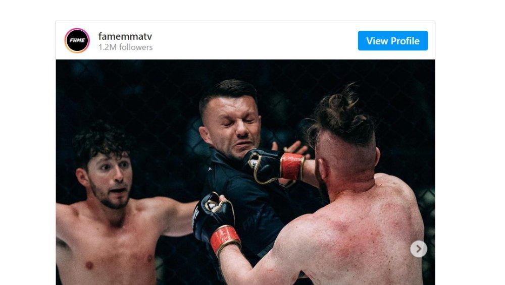 FAME MMA: sędzia 'oberwał' podczas walki Wardęgi i Danny'ego Ferreri